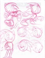 Sonic Sketches Part 01-Sonic by NinjaHaku21