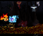 Pokemon forest-Halloweenn Night by Shadow-Pikachu6
