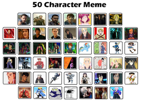 My top 50 Characters by StarQueen22