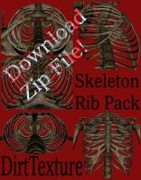 Skeleton Rib Pack - Dirt Color by markopolio-stock