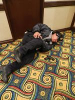 Anime Los Angeles 2015 Raccoon PD Officer hit! by Demon-Lord-Cosplay