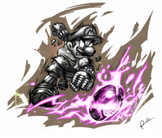 Metal Mario Strikers Charged Football by Willio-the-Nineteen