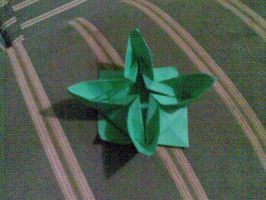 Origami: Water Lily by saria-the-elf
