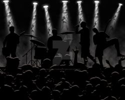 Rock band in photoshop by hoodphotography