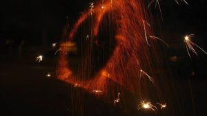 rings of sparkle and flame by Arachnoid