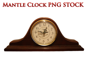 Mantle Clock PNG STOCK by KarahRobinson-Art