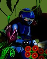 Megaman - cybernetic shinobi by redadder515