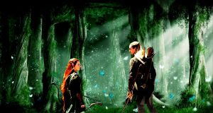 Legolas and Tauriel by Mau0410