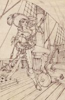 Pirate pencils by Sabinerich