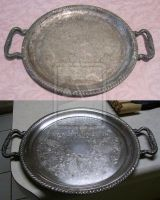 Silver Tray Cleaned by Shunhades