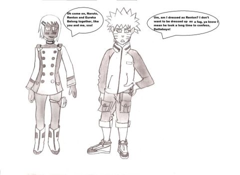 Naruto and Fu Cosplay as Renten and Eureka, shaded by dgj212