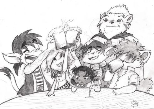 Raise a beer for pirates by SheapSheap