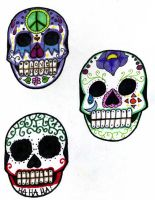 -Sugar Skulls- by FlavorlessMuffin