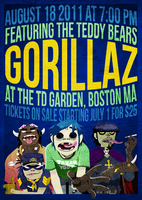 Gorillaz Band Poster by Everywhen