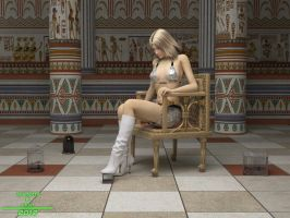 Goddess Alexia and Pets by bruzzo
