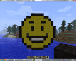 Minecraft Pixle Art Smily Face 1 by KyleM1238235
