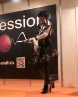 Bayonetta 2 cosplay gif - Fight pose! by JudyHelsing