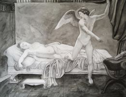 Cupid Looking At Psyche by munchengirl