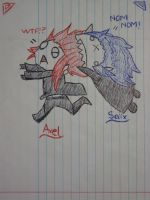 Axel and Saix by fornettie