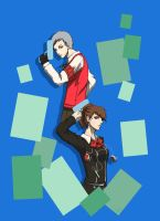 P3P - Akihiko And Minako by emeraudolupus