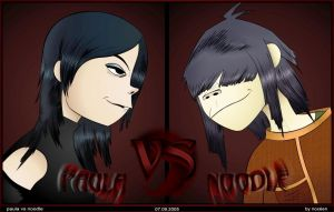 Paula vs Noodle by noxeen