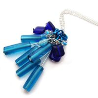 Blue Glass Necklace by fairy-cakes