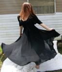 Black Dress Spin Stock 2 by Gracies-Stock