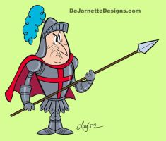 Knight for The Ricky Gervais Show by DeJarnette