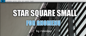 Star Square Small for GnoMenu by rafeviper
