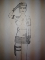 Sonya Blade victory pose by MKiss333