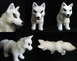 SOLD - Wolf's Rain Kiba - standing plush by goiku