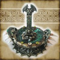 Miniature Gargoyle Cauldron by grimdeva