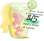 Pony tonic commissions $15 ~FOR A SHORT TIME by RoyalTale