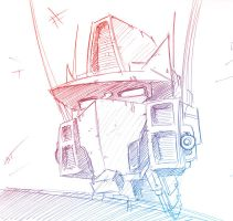 Optimus Prime headshot by dcjosh