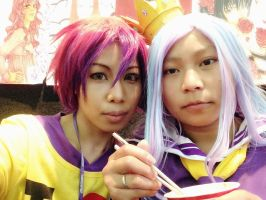 Sora and Shiro - No Game No Life by SangzHime