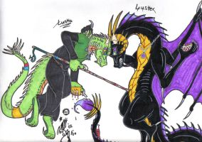 Nacho fight Lusta and Luster by dyingbreed666