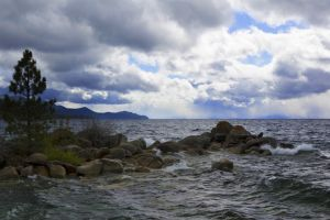 October Tahoe Storm I by sellsworth