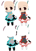 dress chibis by khl1