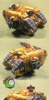 Imp.Fists Land Raider Crusader by HomeOfCadaver