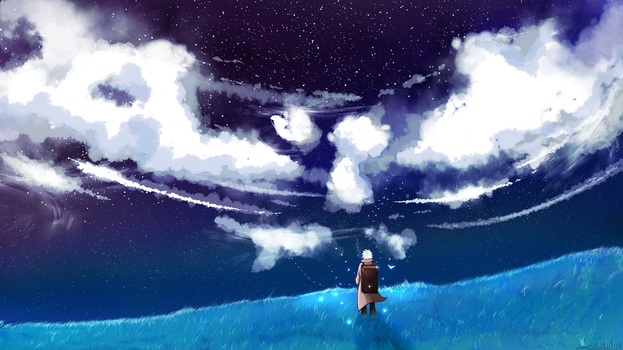 Mushishi - The cold night sky by Frog-Machine