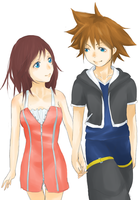 Request : Kairi and Sora by iMii-s