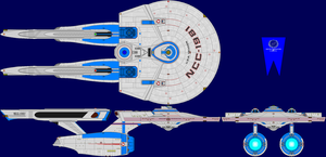 USS Traken Multi-View by captshade