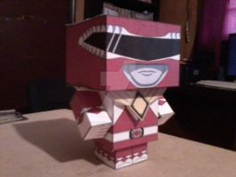 Red Ranger with Dragon Shield CubeeCraft by SuperVegeta71290