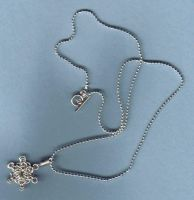 Chainmaille Snowflake Pendant by Kithplana