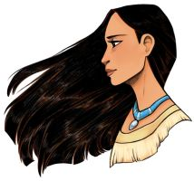 Pocahontas by courtneygodbey