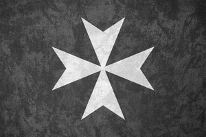 Knights Hospitaller ~ Grunge Flag (c. 1099 - ) by Undevicesimus