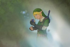 Link Ocarina of Time by Colam