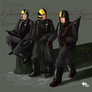 Ephesian line soldiers by LordCarmi