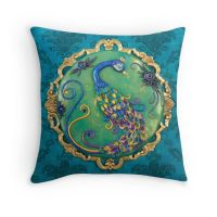 New Year's Inspiration Blue Peacock Pillowcase by DeidreDreams