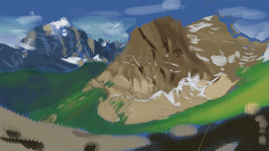 Mountain Study for SDJ by P-Flute